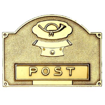 Letter Plate with Bell Push Polished Brass