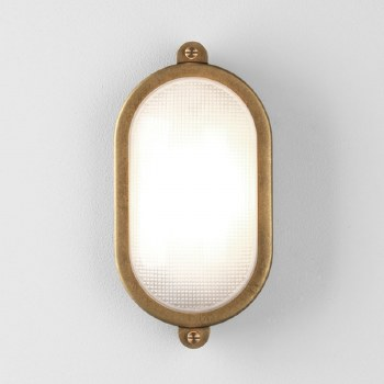 Malibu Oval Wall Light Coastal Range Antique Brass