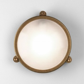 Malibu Round Wall Light Coastal Range Antique Brass