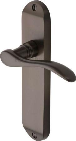 Heritage Maya Latch Door Handles MAY7610 Matt Bronze