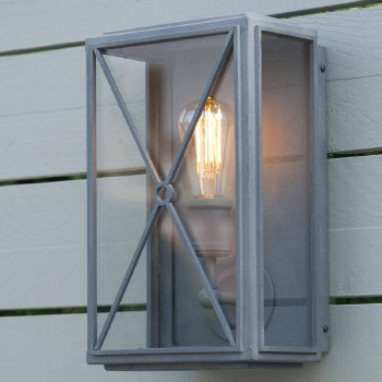 Mayfair Wall Lamp Wide Zinc