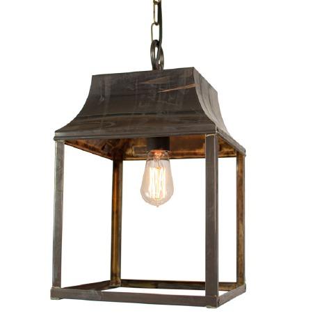 Strathmore Hanging Lantern Medium Antique Brass