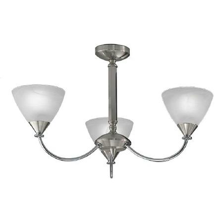 Mercian Ceiling Light 3 Lights Brushed Nickel