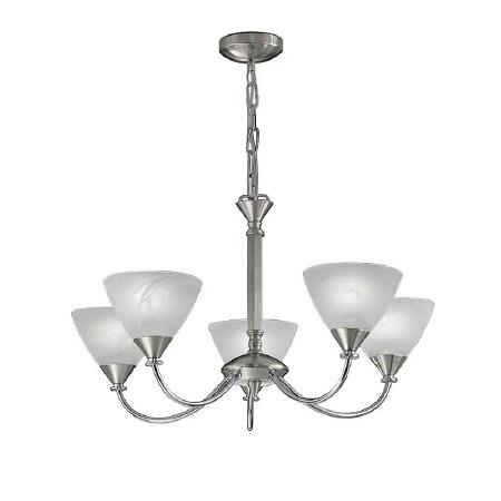 Mercian Ceiling Light 5 Lights Brushed Nickel