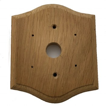 Shaped Oak Pattress to suit DFBP0019 Scroll Bell Push