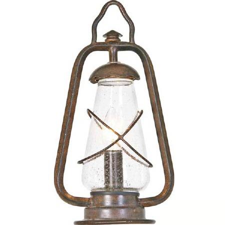 Elstead Miners Pedestal Lantern Light