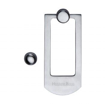 Heritage K1320 Modern Door Knocker Satin Chrome