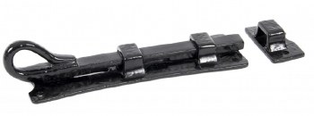 "From The Anvil Monkeytail Straight Door Bolt 6"" Black"