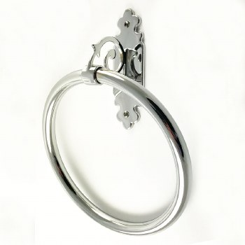 Monza Towel Ring Polished Chrome
