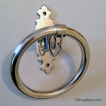 Monza Towel Ring Small Antique Silver