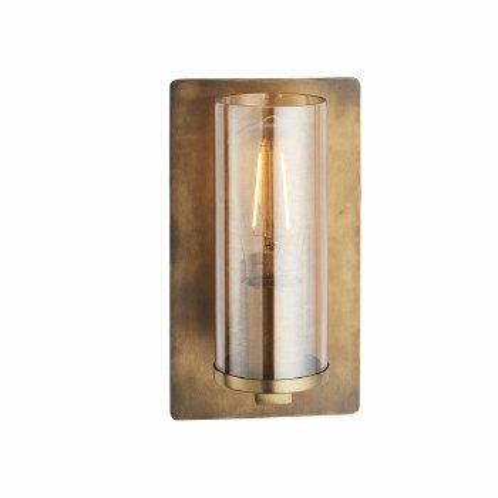 Moreton Wall Light Brass Patina & Champagne Glass