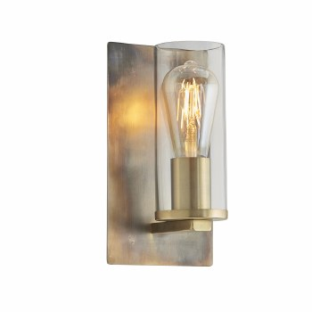 Moreton Wall Light Bronze & Clear Glass