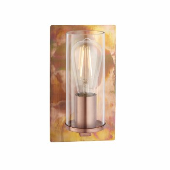 Moreton Wall Light Copper & Clear Glass