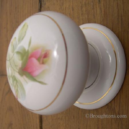 Porcelain Door Knobs 57mm Angelique