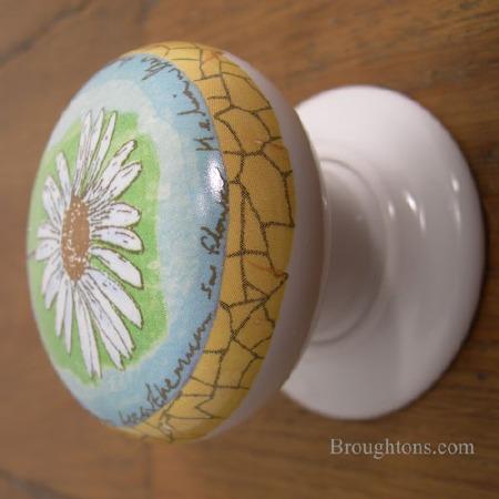 Porcelain Door Knobs 57mm Springtime