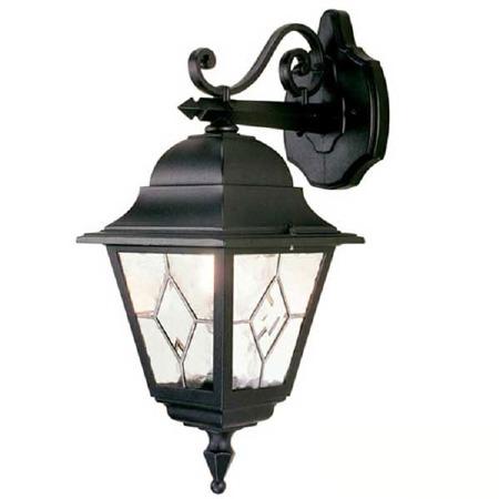 Elstead Norfolk Outdoor Hanging Wall Light Lantern Black