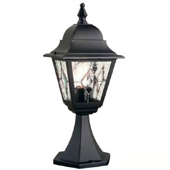 Elstead Norfolk Pedestal Lantern Light Black