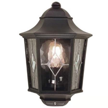 Elstead Norfolk Flush Outdoor Wall Light Lantern Black