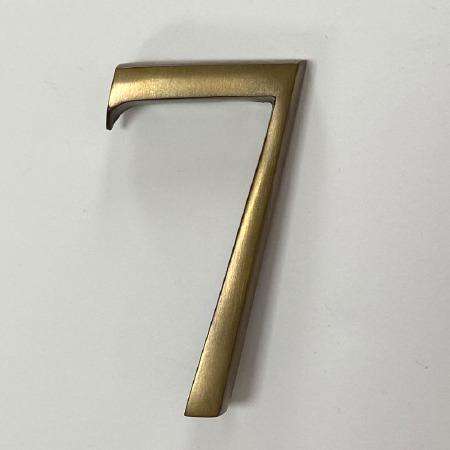 Aston Numeral 7 Pin Fix Antique Brass Unlacquered