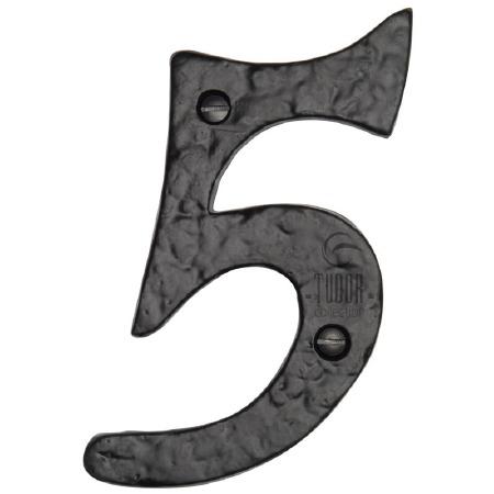 """Heritage Tudor Numeral 4"""" TC355 05 Black Ironwork"""