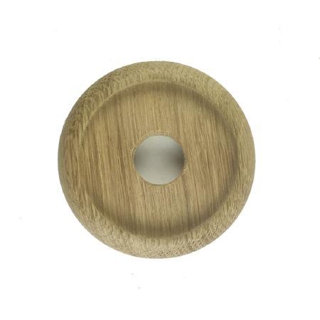 "Circular Oak Patress for 3"" Bell Pushes"
