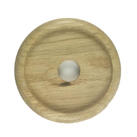 "Circular Oak Patress for 4"" Bell Pushes"