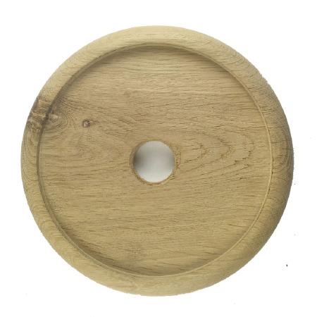 "Circular Oak Patress for 5"" Bell Pushes"