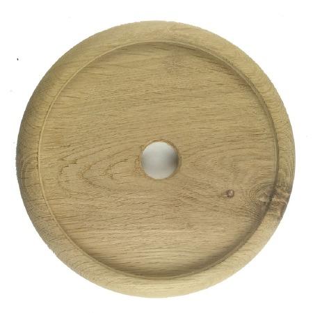 "Circular Oak Patress for 6"" Bell Pushes"