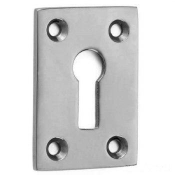 Croft Plain Oblong Escutcheon 4574 Polished Chrome