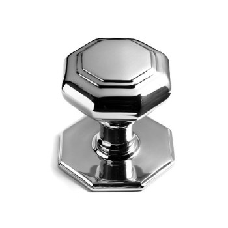 Samuel Heath 67mm Octagonal Centre Door Knob Polished Chrome