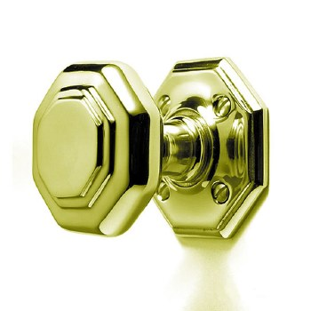 Octagonal Door Knobs P2182/B PBU