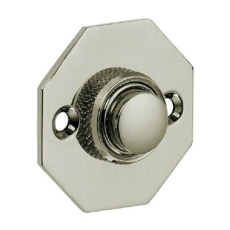 Croft Octagonal Door Bell Push 1916 Polished Nickel