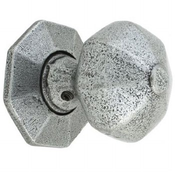 From The Anvil Octagonal Mortice or Rim Door Knobs Pewter Patina