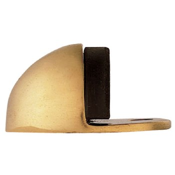 Oval Door Stop Polished Brass