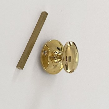 Aston Oval Thumb Turn Only Polished Brass Unlacquered