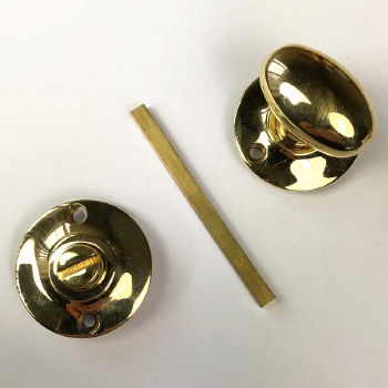 Aston Oval Thumb Turn & Release Polished Brass Lacquered