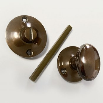 Aston Oval Thumb Turn & Release Polished Solid Bronze Antiqued