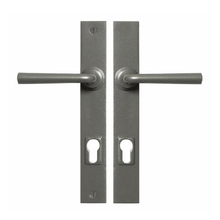 Stonebridge Padstow Multipoint Entry Door Handles Armor Coat Satin Steel
