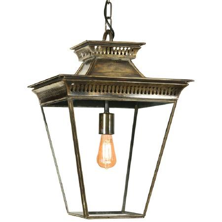 Pagoda Hanging Lantern Medium Light Antique Brass