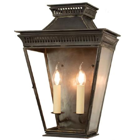 Pagoda Large Flush Outdoor Lantern Antique