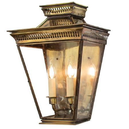 Pagoda Large Flush Outdoor Lantern Light Antique
