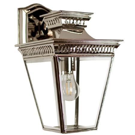 Pagoda Overhead Arm Wall Lantern Nickel