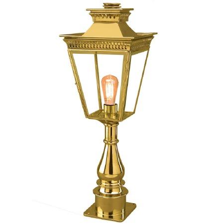 Pagoda Pillar Tall Lantern Polished Brass