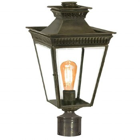 "Pogoda Lamp Post Head to suit 2"" dia. Antique Brass"