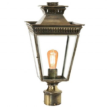 "Pagoda Lamp Post Head to suit 2"" dia. Light Antique Brass"