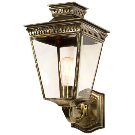 Pagoda Outdoor Wall Lantern, Light Antique Brass