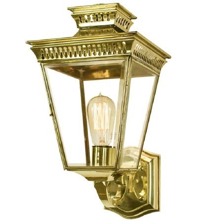 Pagoda Outdoor Wall Lantern Polished Brass