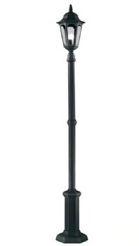 Elstead Parish Lamp Post Black