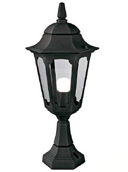 Elstead Parish Pedestal Lantern Light Black