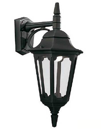 Elstead Parish Outdoor Wall Light Lantern Black